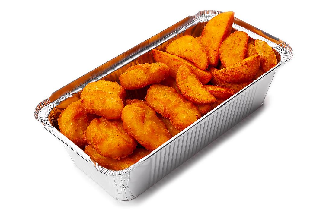 Куриные кусочки и картофель из печи
