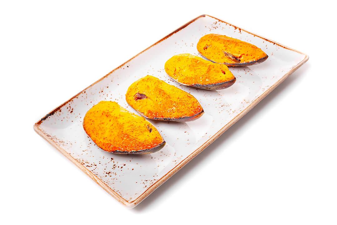 Запеченные Мидии в ракушках с японским соусом Спайси Порция (4 шт)